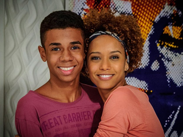 Max Lima e Taís Araújo durante as gravações de Geração Brasil (Foto: Alex Carvalho/TV Globo)