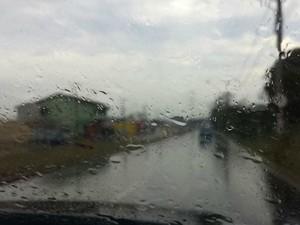 Chuva em Campo Grande (Foto: Alexandre Cabral/TV Morena)