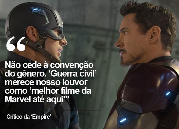 crítica da 'Empire' a 'Capitão América: Guerra civil' (Foto: G1)