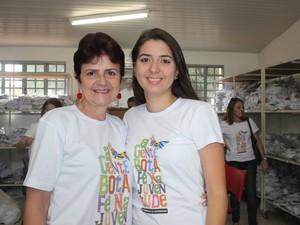 Ana Maria foi a primeira caminhada desde a primeira edição com mãe Emilia (Foto: Gilcilene Araújo/G1)
