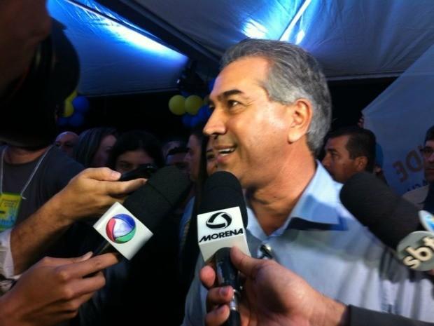 Reinaldo Azambuja foi confirmado como candidato ao governo de MS (Foto: Gabriela Pavão/G1 MS)