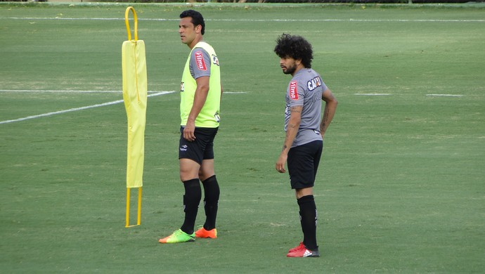 Fred e Luan, atacantes do Atlético-MG (Foto: Fernando Martins Y Miguel)