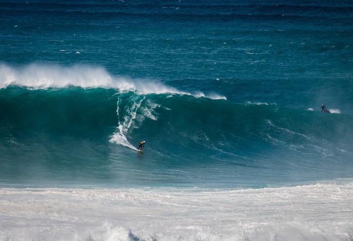 Gabriel O Pensador onda gigante Nazaré surfe (Foto: Pedro Morais/Divulgação)