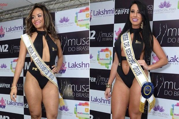 Candidatas Musa do Brasil: Teresa Cristina, Pernambuco | Thais Eid, Sergipe (Foto: Divulgação)