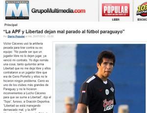 Cáceres mancheste jornal (Foto: Reprodução)