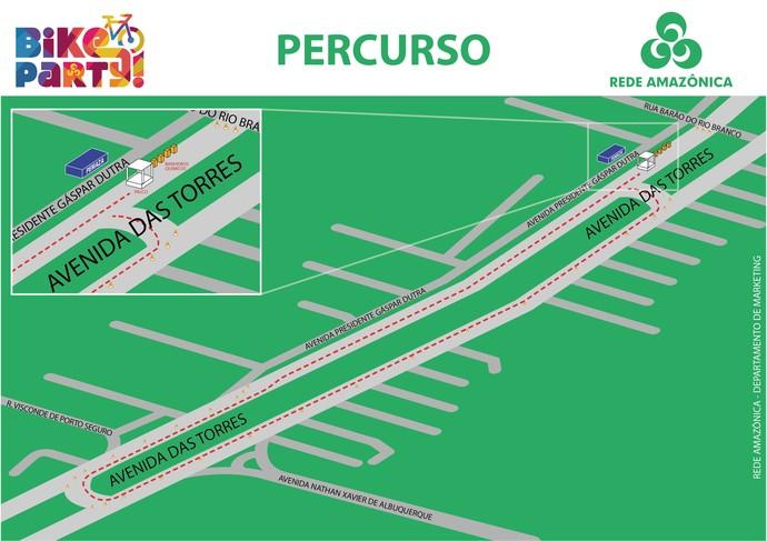 Mapa do Bike Party (Foto: Divulgação)
