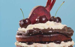 Receita de bolo floresta negra com massa de beterraba