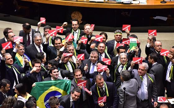 Sessão extraordinária para processo de eleição da comissão inicial do impeachment  (Foto: Zeca Ribeiro / Câmara dos Deputados)