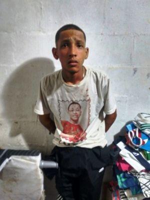 Homem foi preso pelo BAEP em Cubatão (Foto: Divulgação/Polícia Militar)