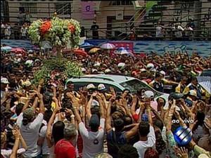 Cerca de 15 mil motos participam da procissão (Foto: Reprodução/ TV Liberal)