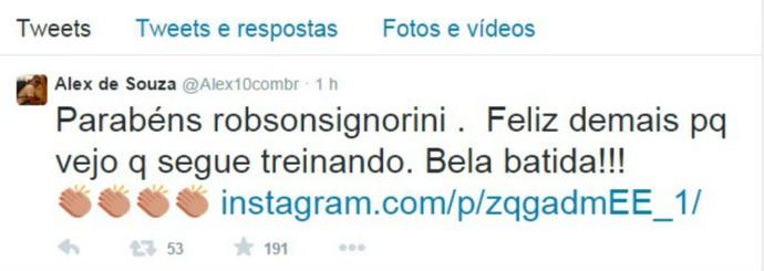Alex Robinho twitter (Foto: Divulgação)