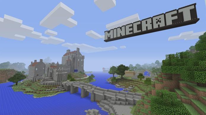 Castelo de Eilean Donan na Escócia é reproduzido no mundo tutorial de Minecraft (Foto: Divulgação)