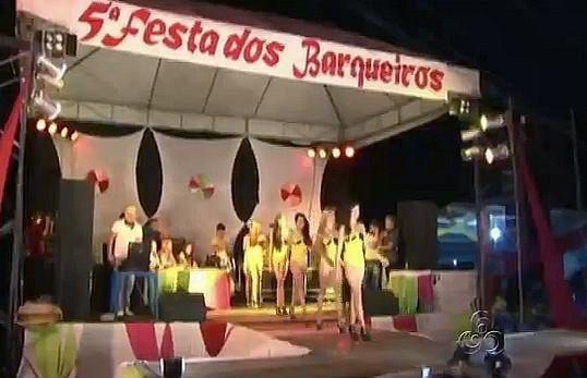 5ª Festa dos Barqueiros em Presidente Figueiredo, no Amazonas (Foto: Amazonas TV)