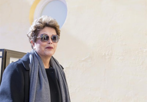 Dilma Rousseff em viagem à Europa em janeiro de 2017 (Foto: EFE/Raúl Caro)