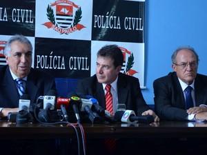Cármino de Souza, José Carlos Fernandes e Nelson Patrocínio, em Campinas (Foto: Fernando Pacífico / G1)