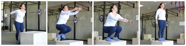 montagem mulher salto eu atleta (Foto: Sandro Gama)