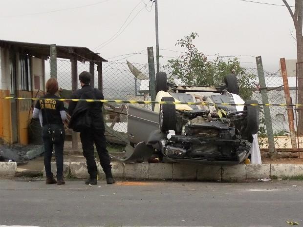 Acidente em Barroso (Foto: Wanderson Nascimento/Arquivo pessoal)