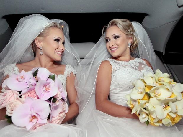 """""""Se não fosse assim, não teria graça"""", disse Tacielly, umas das gêmeas que se casou no Espírito Santo. (Foto: Timóteo Sodre/ Arquivo Pessoal)"""