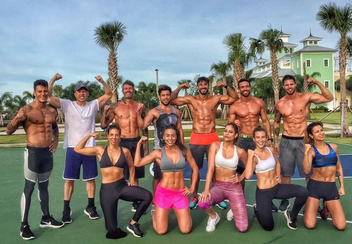 Amigos treinam juntos em resort na Flórida (Foto: Arquivo pessoal)