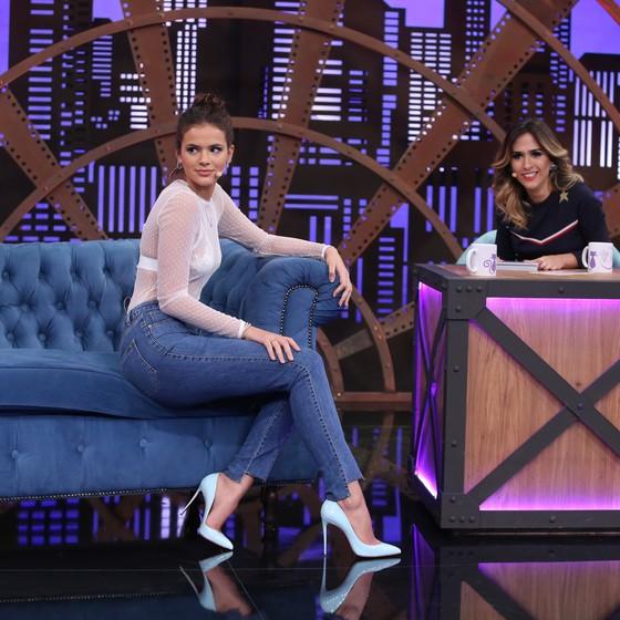 Bruna Marquezine também foi entrevistada por Tatá na atração que estreia em abril no Multishow (Foto: Divulgação)
