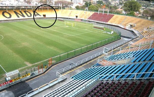 estádio Raulino de Oliveira Volta Redonda detalhe (Foto: Divulgação / Site Oficial do Volta Redonda)