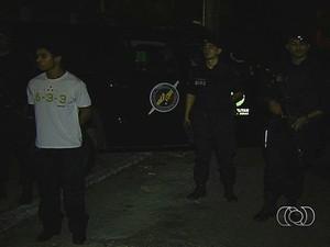 Marido de grávida assassinada é preso em após enterro em Goiânia, Goiás (Foto: Reprodução/TV Anhanguera)