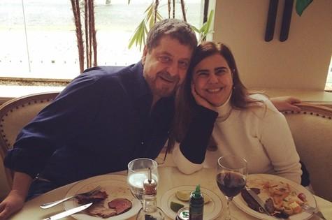Flávio Galvão com Mayara Magri (Foto: Reprodução do Instagram)
