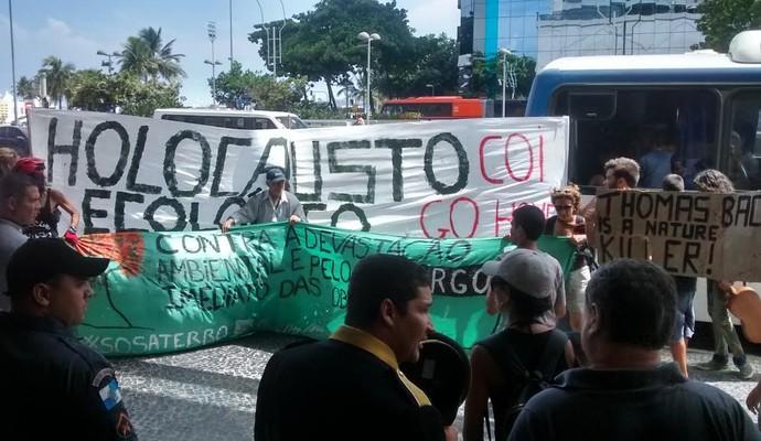Protesto contra o COI Rio (Foto: Leonardo Filipo)