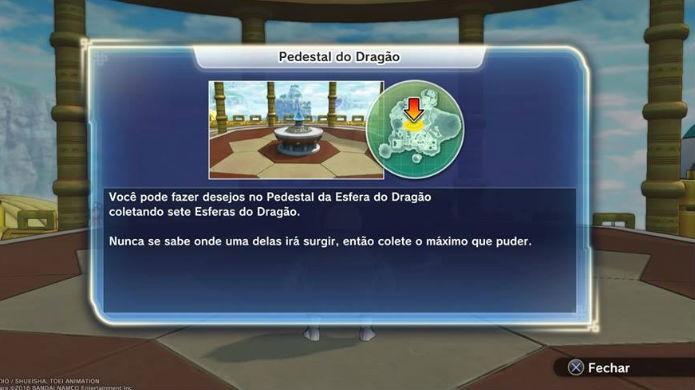 Dragon Ball Xenoverse 2: Leve as sete esferas até este ponto do mapa (Foto: Reprodução / Thomas Schulze)