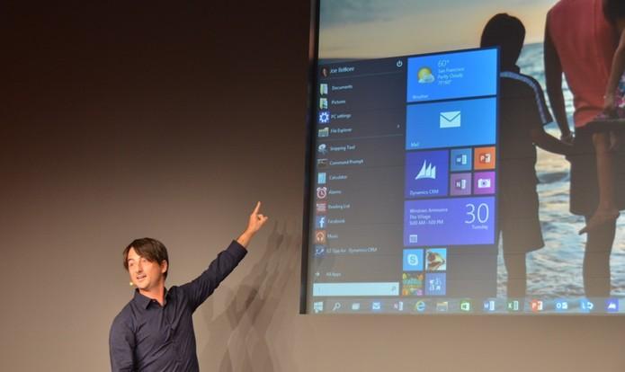 Joe Belfiore mostra novo Menu Iniciar do Windows 10 (Foto: Reprodução/TheVerge)