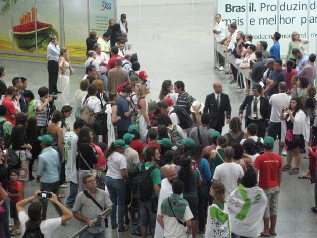 Moçambicano barrado na Rio+20 (Foto: Marcelo Ahmed/G1)