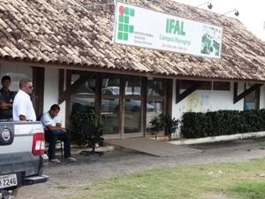 Aulas do Ifal foram suspensas por conta da morte da professora. (Foto: Severino Carvalho/Gazetaweb)