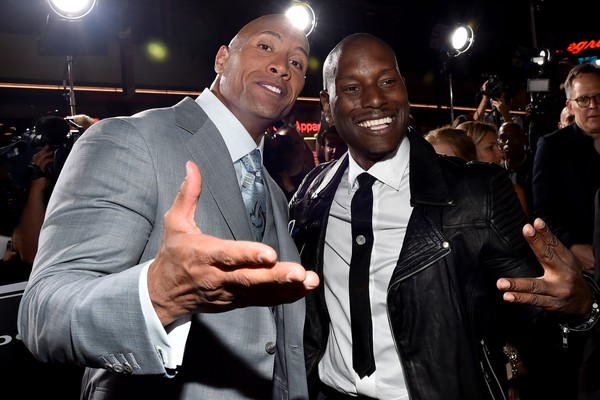 Os atores Dwayne Johnson e Tyrese Gibson  (Foto: Getty Images)