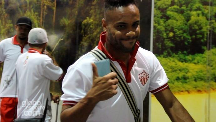 Alexandre Matão, atacante do Rio Branco (Foto: João Paulo Maia)
