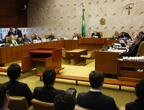 Ministros do Supremo Tribunal Federal (STF) julgam o rito do impeachment (Foto: Carlos Humberto/SCO/STF)