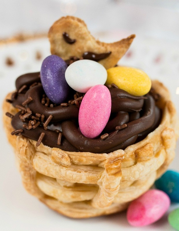 CCestinha folhada com mousse de chocolate (Foto: Divulgao)