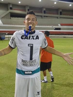 Wallace, goleiro do Vitória Sub-20 (Foto: Denison Roma/GloboEsporte.com)