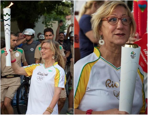 Laerte conduz a tocha em São Paulo, no dia 24 de julho (Foto: Reprodução/Facebook)