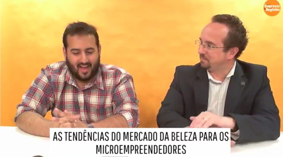 Diego Smorigo, consultor do Sebrae-SP, deu dicas para empreendedores da beleza em live de PEGN no Facebook (Foto: Reprodução)