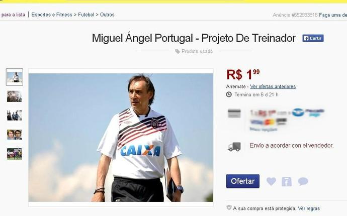 Miguel Ángel Portugal, técnico do Atlético-PR (Foto: Reprodução)
