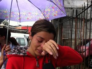 Fernanda, irmã de jovem morta em academia na Zona Sul de São Paulo (Foto: Letícia Macedo/ G1)