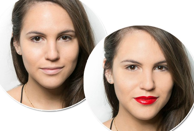 O batom vermelho transforma um look em segundos (Foto: Reprodução Marie Claire US)