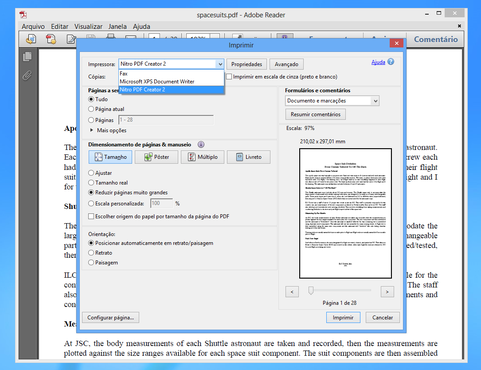 screenshot de Adobe Reader