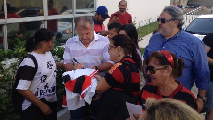 Zico jogo festivo Jacozinho Maceió (Foto: Jota Rufino/GloboEsporte.com)