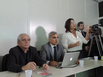 João Braga, Victor Vieira e Taciana Ferreira (Foto: Moema França/G1)