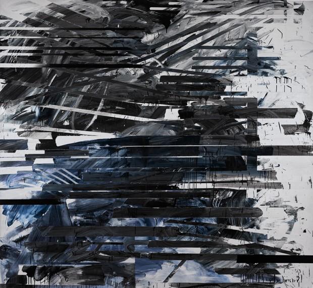 Jacqueline Humphries PILE, 2008 Oil and enamel on linen 203 x 221 cm (80 x 87 in) Valor estimado entre £25,000-35,000 (Foto: Divulgação)