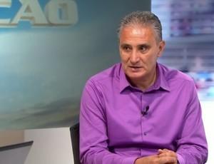 Técnico Tite participa do Redação (Foto: Reprodução SporTV)