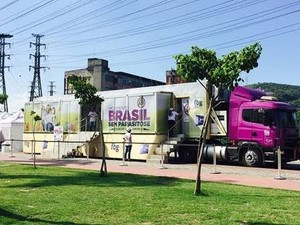 Unidade móvel do Movimento Brasil Sem Parasitose desembarca em Maceió (Foto: Arquivo/FBG)