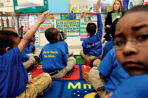 ACESSO Uma escola charter em Washington. Na rede, 29% dos alunos são negros (Foto: Sipa/AP images)