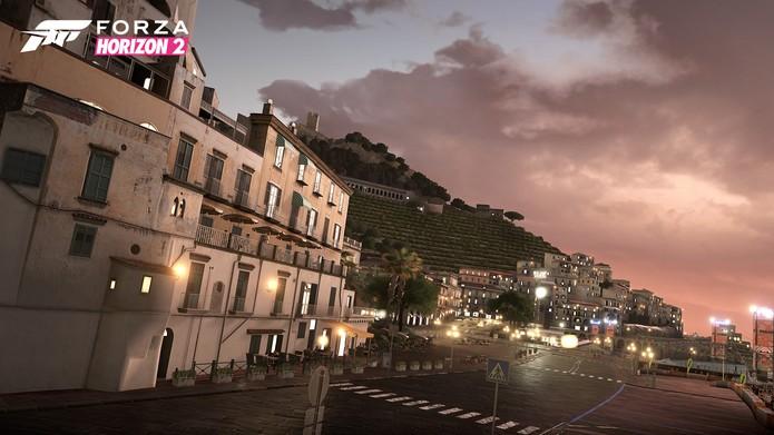 A mudança de clima em Forza Horizon 2 não é tão sutil quanto parece (Foto: Divulgação)
